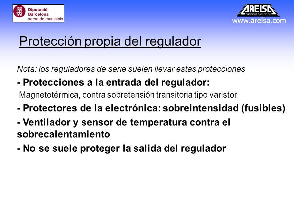 Protección propia del regulador
