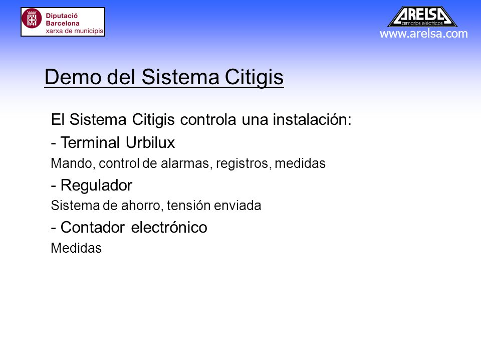 Demo del Sistema Citigis
