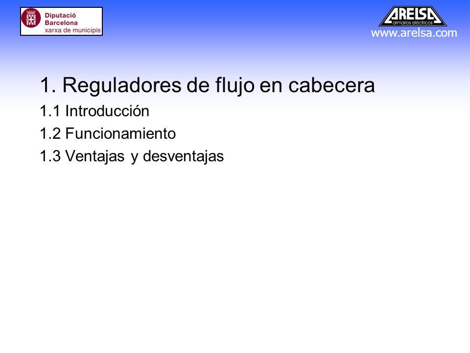1. Reguladores de flujo en cabecera