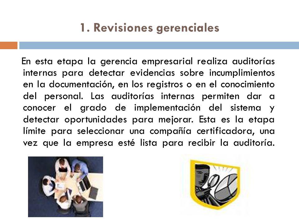 1. Revisiones gerenciales