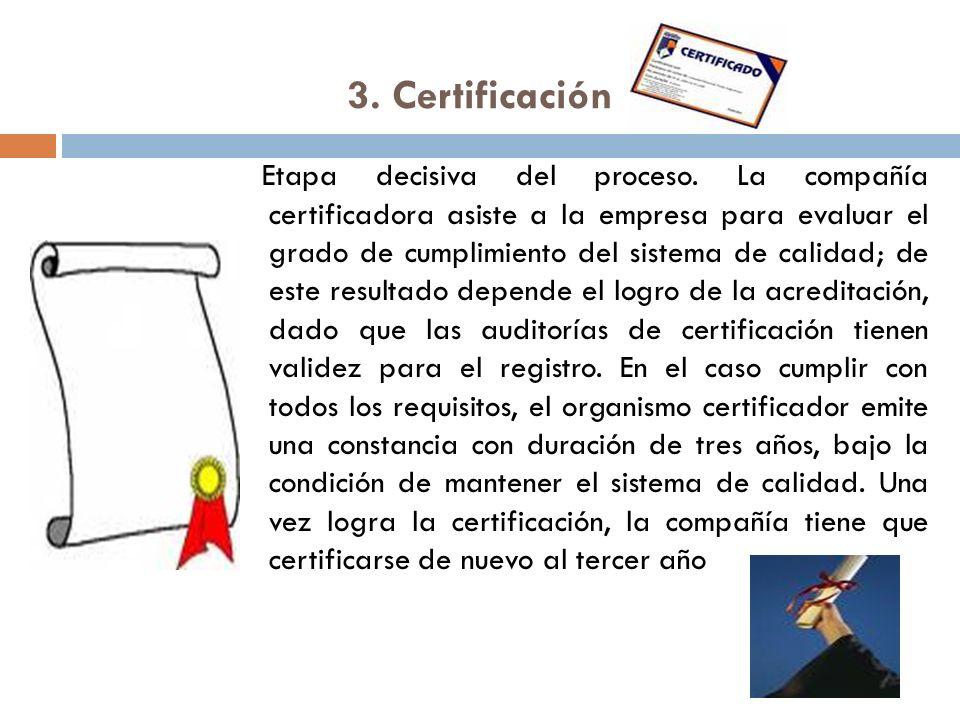 3. Certificación