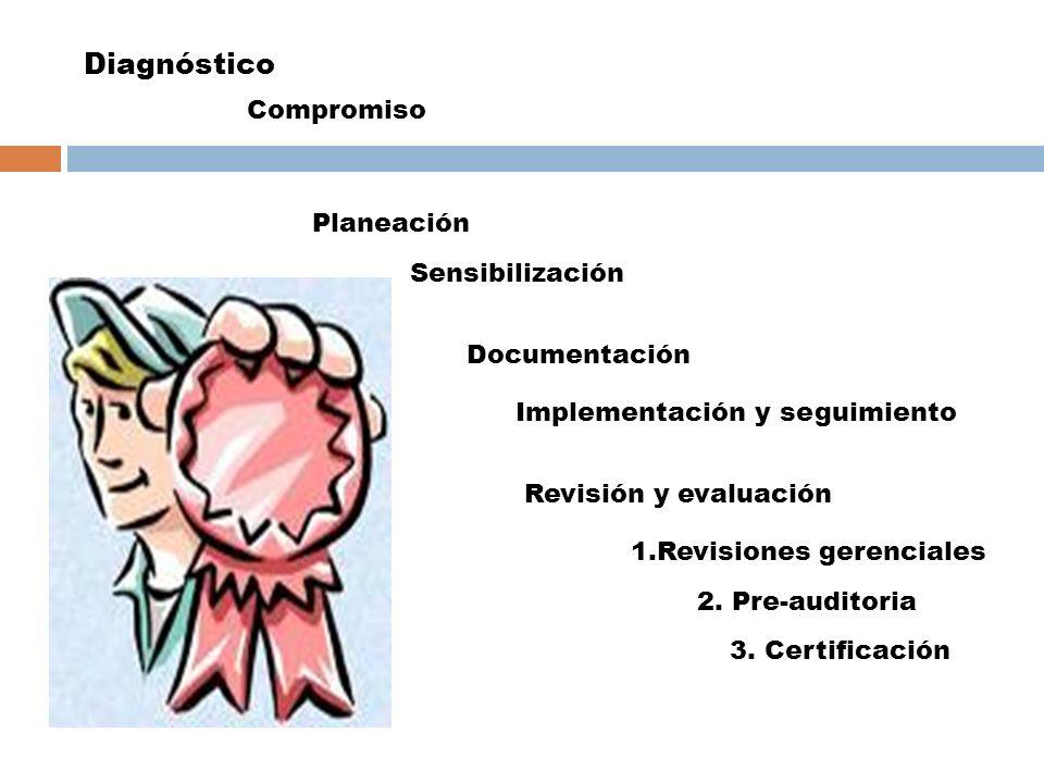 Diagnóstico Compromiso Planeación Sensibilización Documentación