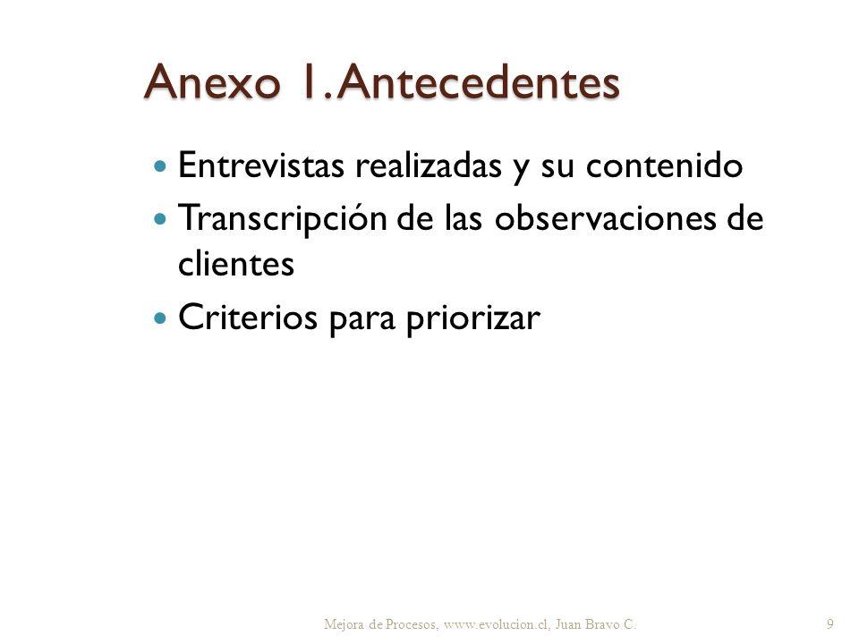 Anexo 1. Antecedentes Entrevistas realizadas y su contenido