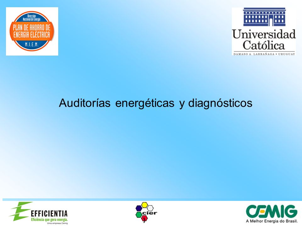 Auditorías energéticas y diagnósticos