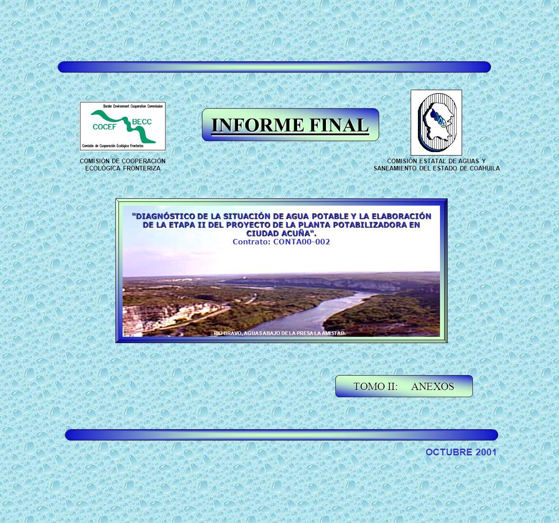INFORME FINAL TOMO II: ANEXOS OCTUBRE 2001