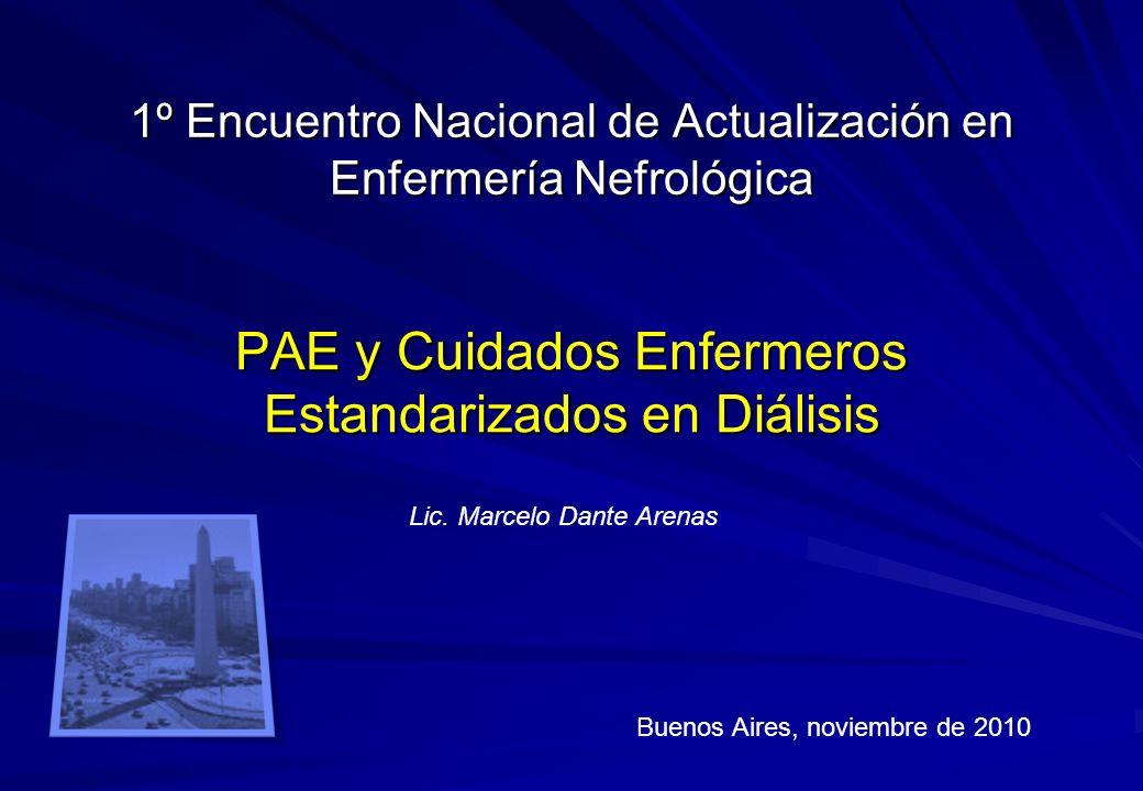 1º Encuentro Nacional de Actualización en Enfermería Nefrológica