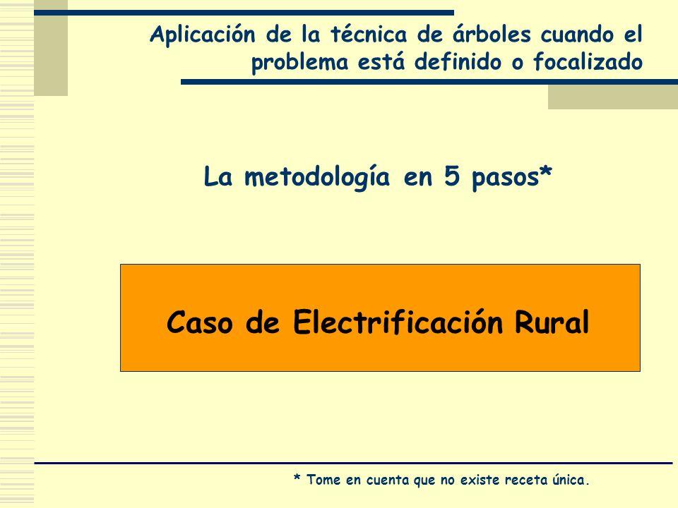La metodología en 5 pasos* Caso de Electrificación Rural