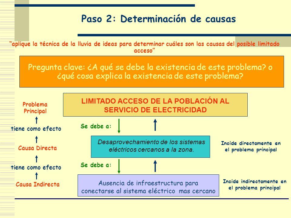 Paso 2: Determinación de causas