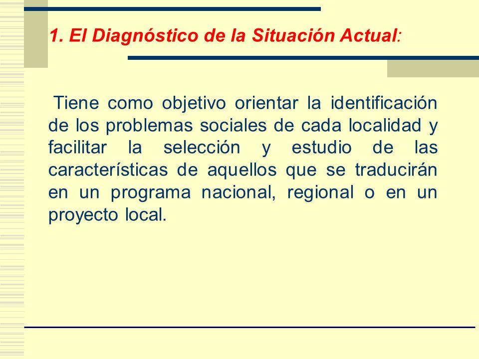 1. El Diagnóstico de la Situación Actual:
