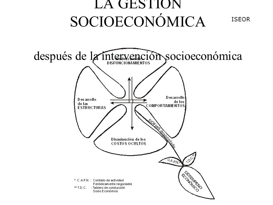 LA GESTIÓN SOCIOECONÓMICA después de la intervención socioeconómica