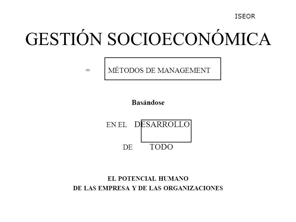 GESTIÓN SOCIOECONÓMICA