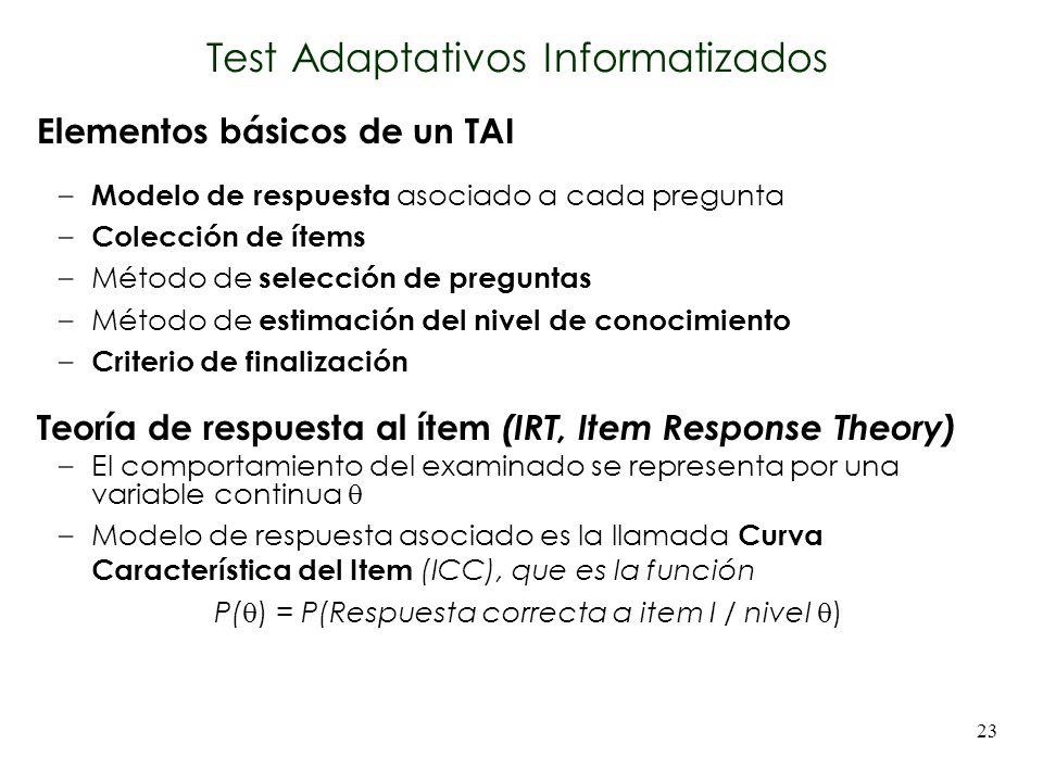 Test Adaptativos Informatizados