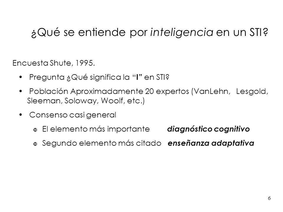¿Qué se entiende por inteligencia en un STI