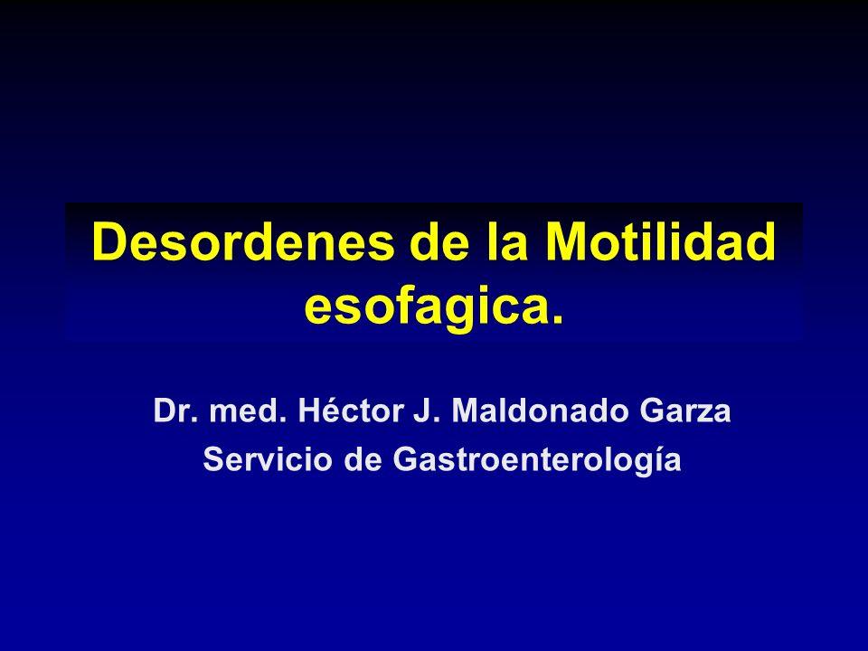 Desordenes de la Motilidad esofagica.