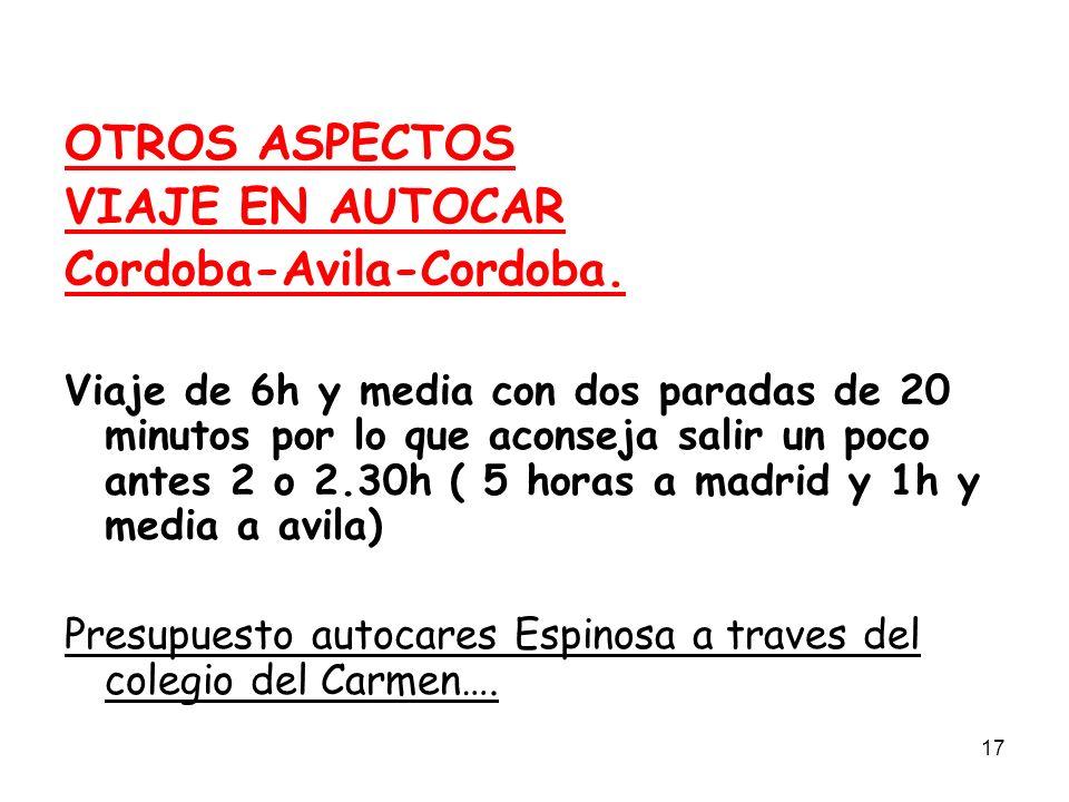 Cordoba-Avila-Cordoba.