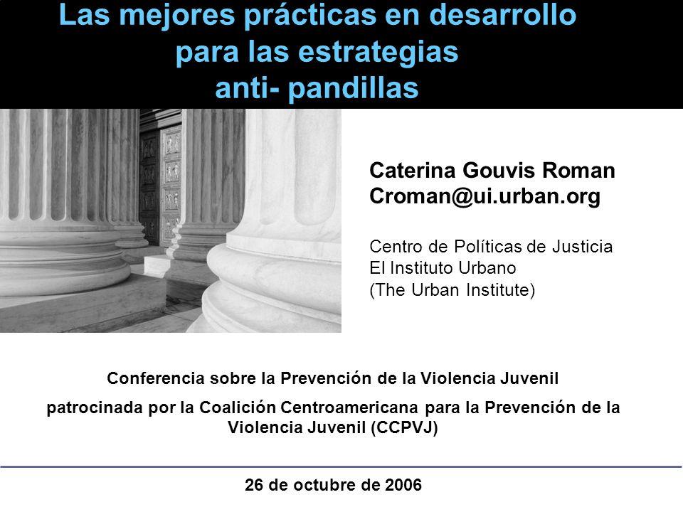Conferencia sobre la Prevención de la Violencia Juvenil