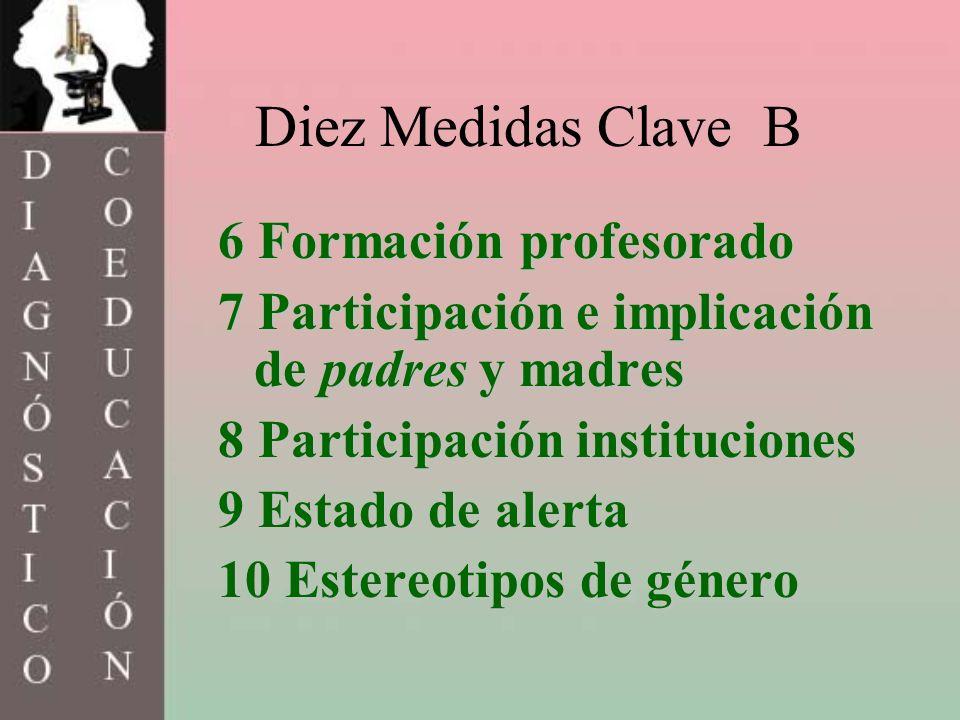 Diez Medidas Clave B 6 Formación profesorado