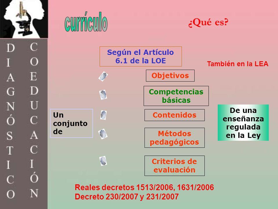 currículo ¿Qué es Reales decretos 1513/2006, 1631/2006
