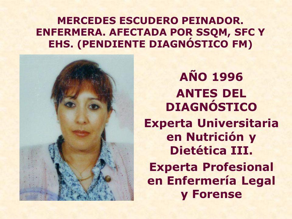 Experta Universitaria en Nutrición y Dietética III.