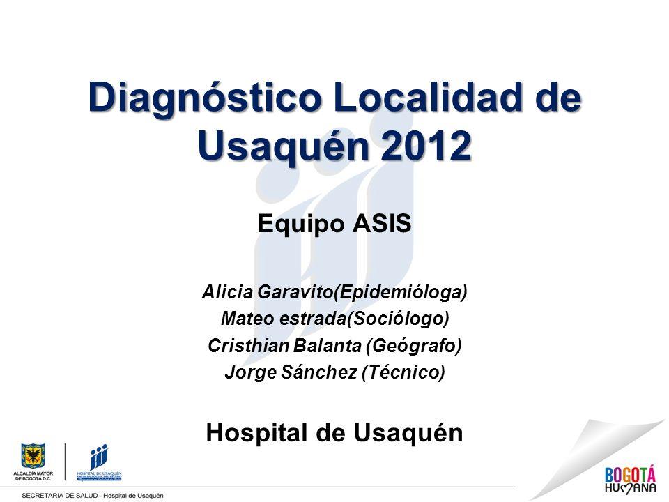 Diagnóstico Localidad de Usaquén 2012