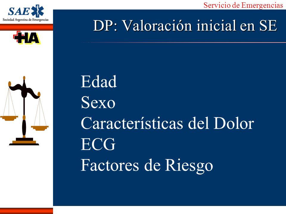 DP: Valoración inicial en SE
