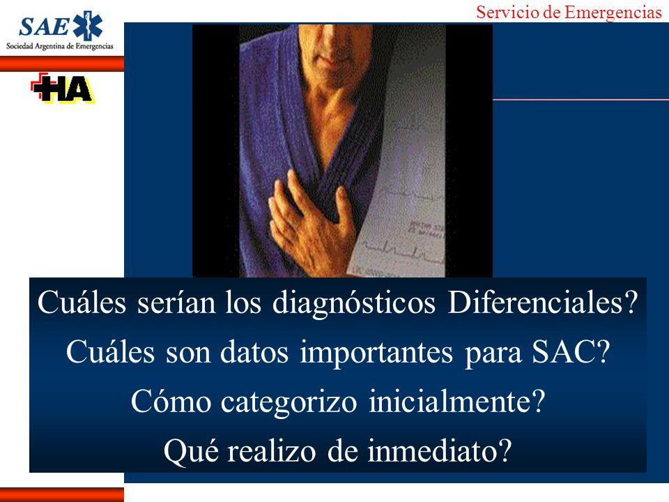 Cuáles serían los diagnósticos Diferenciales