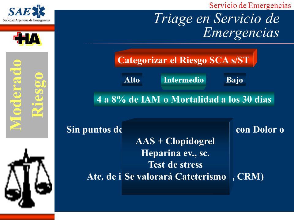 Triage en Servicio de Emergencias