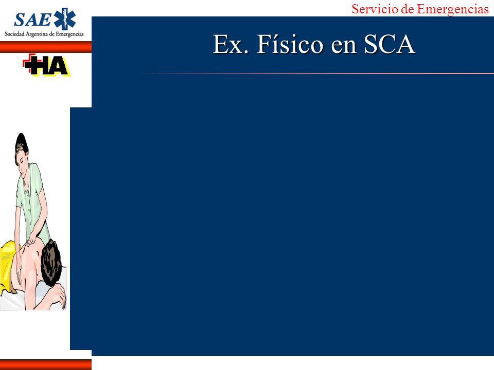 Ex. Físico en SCA
