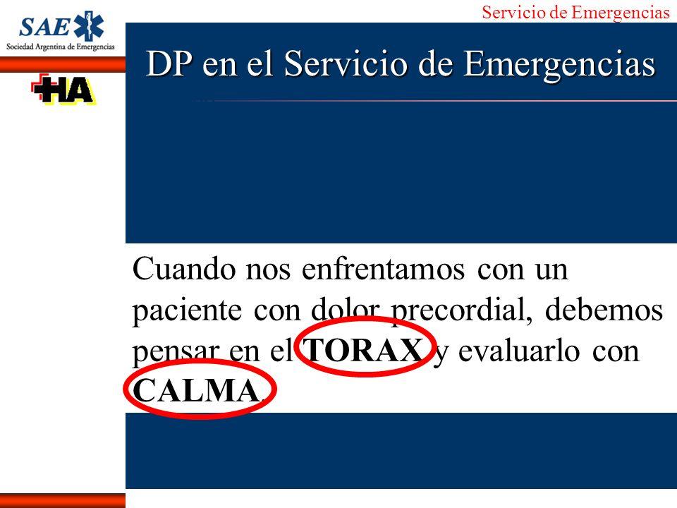 DP en el Servicio de Emergencias