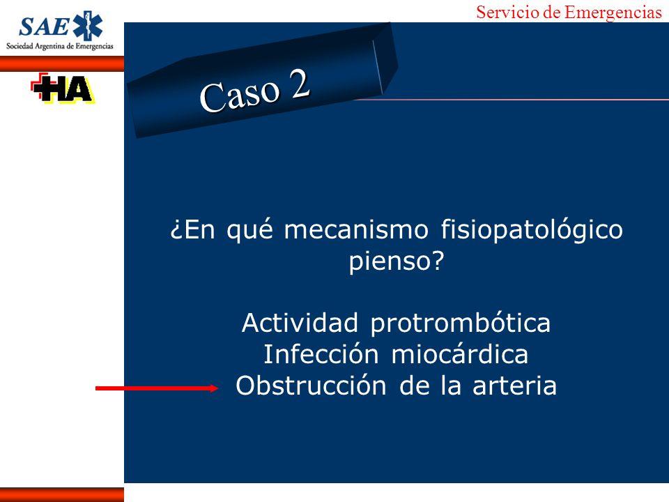 Caso 2 ¿En qué mecanismo fisiopatológico pienso