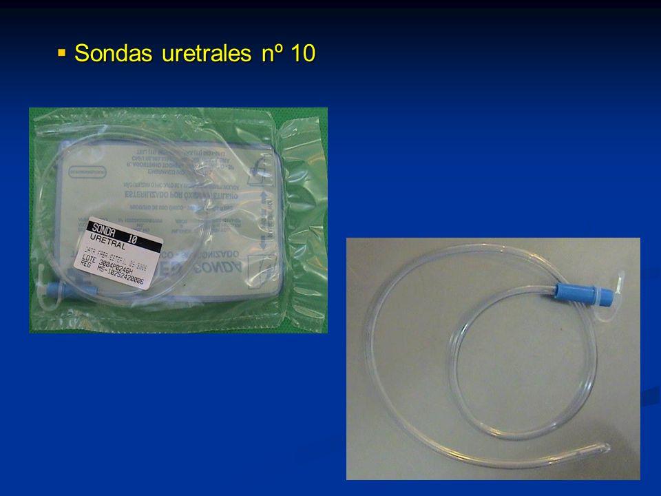 Sondas uretrales nº 10