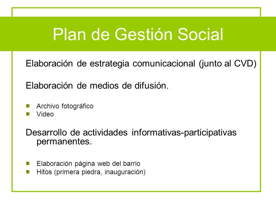Elaboración de estrategia comunicacional (junto al CVD)