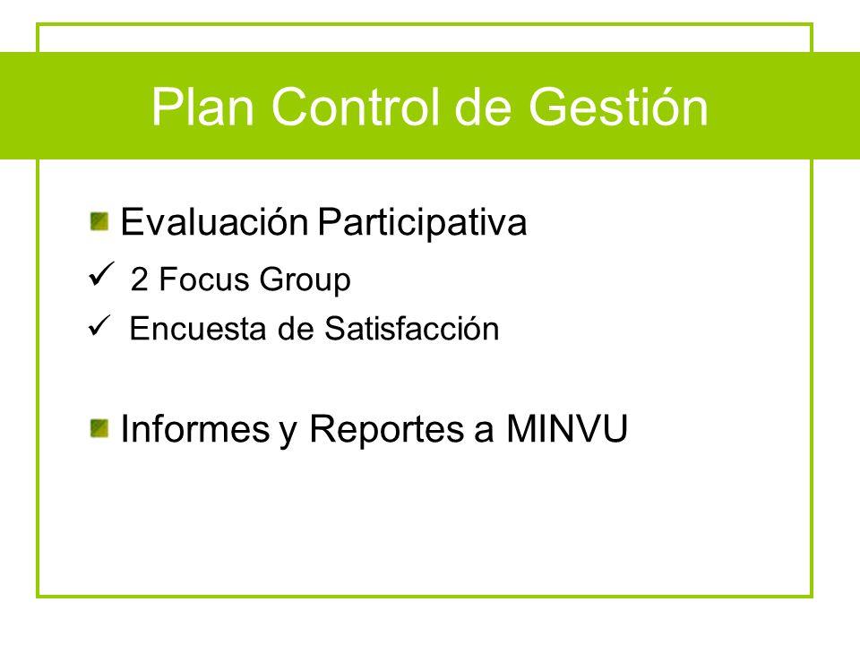 Plan Control de Gestión