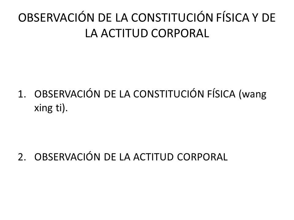 OBSERVACIÓN DE LA CONSTITUCIÓN FÍSICA Y DE LA ACTITUD CORPORAL