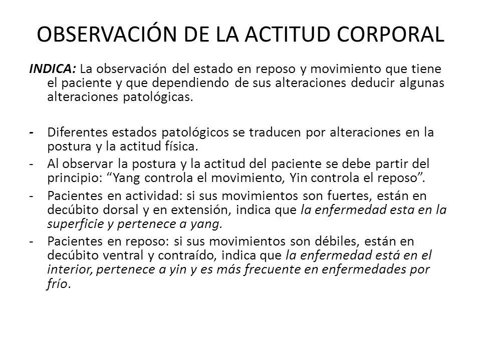 OBSERVACIÓN DE LA ACTITUD CORPORAL