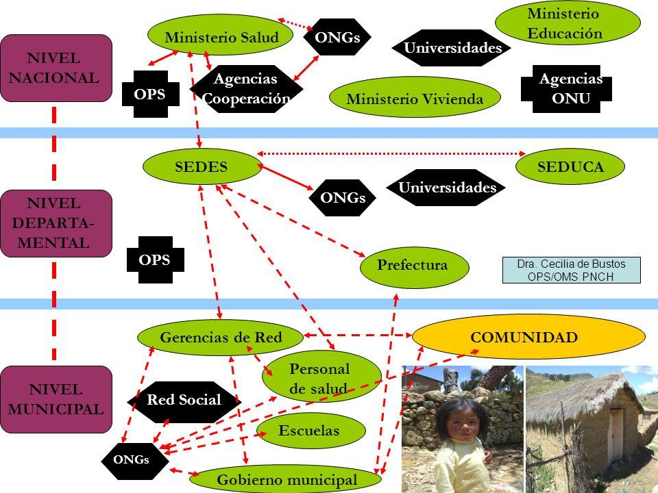 Ministerio Educación Ministerio Salud ONGs Universidades