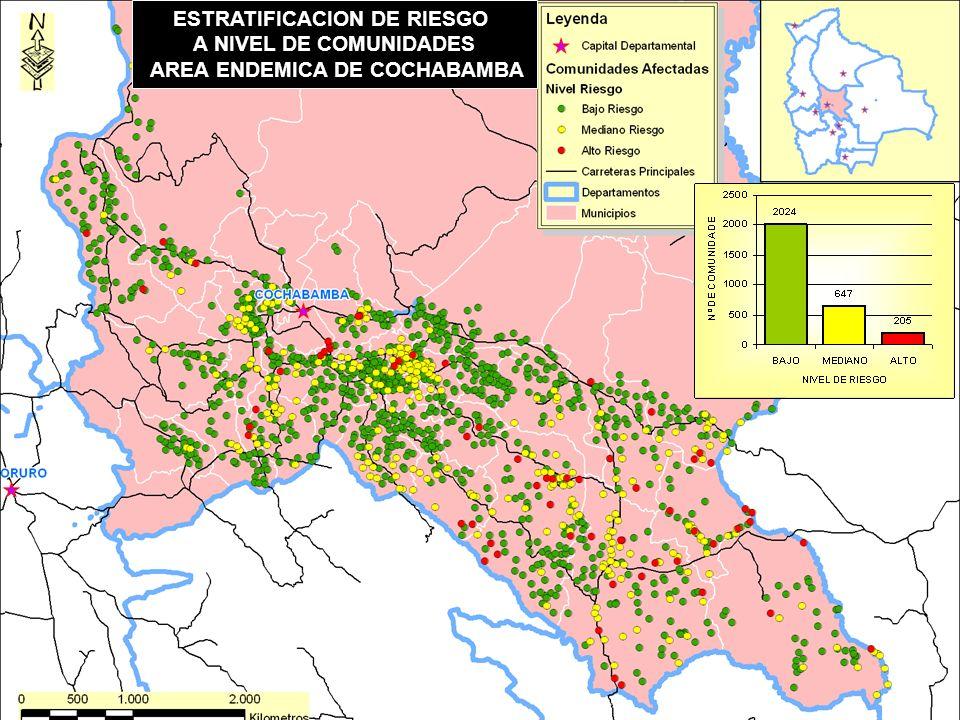 ESTRATIFICACION DE RIESGO AREA ENDEMICA DE COCHABAMBA