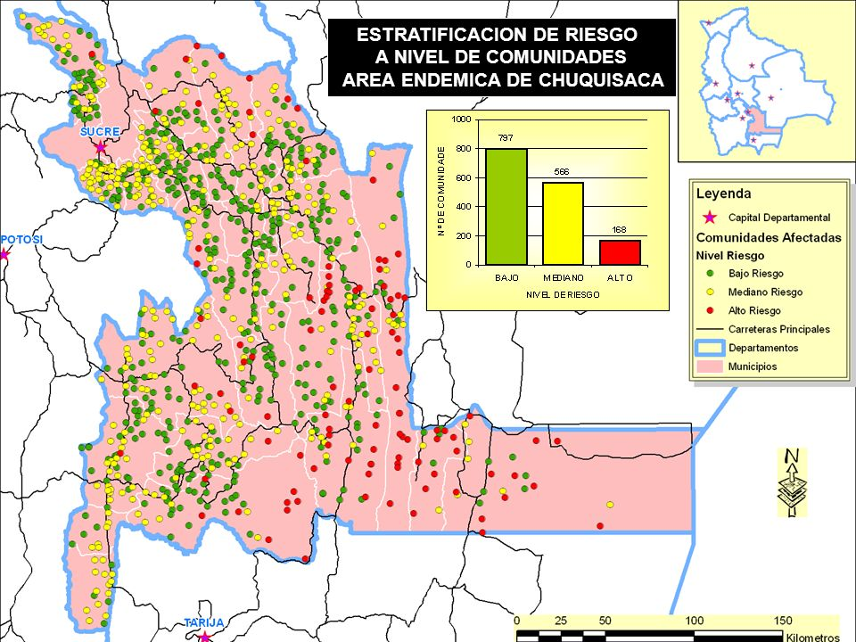 ESTRATIFICACION DE RIESGO AREA ENDEMICA DE CHUQUISACA