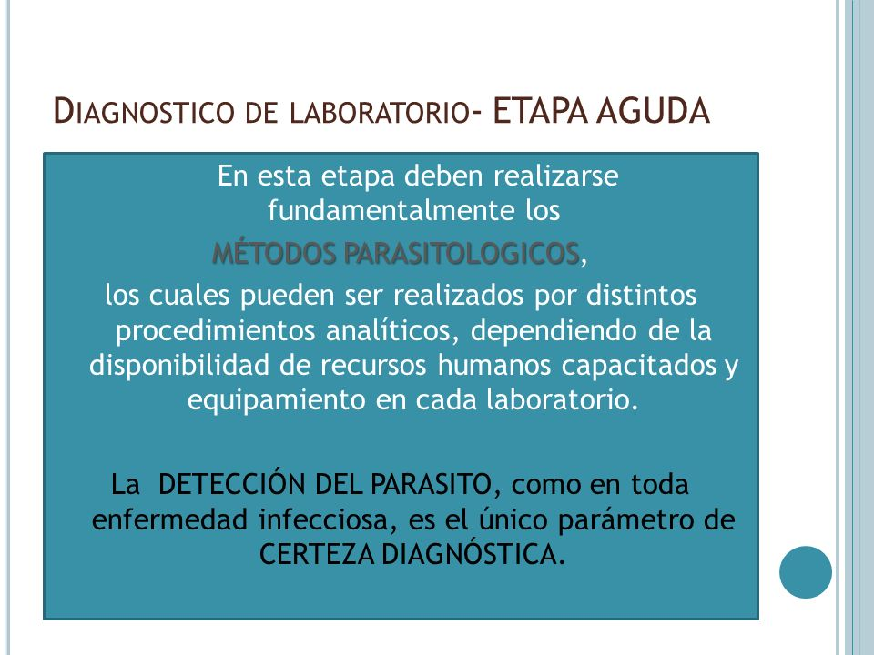 Diagnostico de laboratorio- ETAPA AGUDA