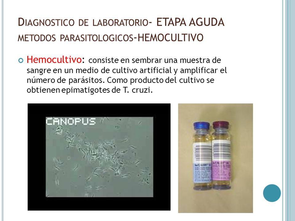 Diagnostico de laboratorio- ETAPA AGUDA metodos parasitologicos-hemocultivo