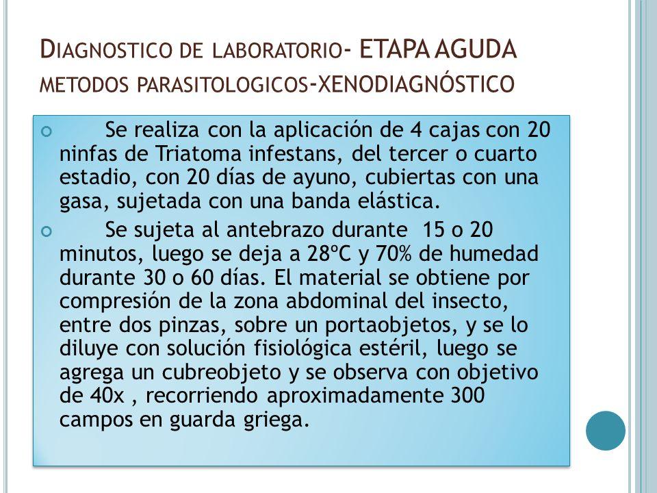 Diagnostico de laboratorio- ETAPA AGUDA metodos parasitologicos-xenodiagnóstico
