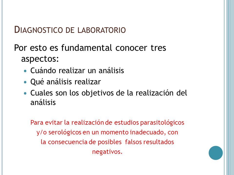 Diagnostico de laboratorio