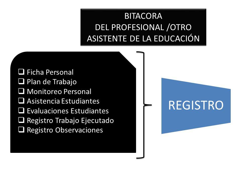DEL PROFESIONAL /OTRO ASISTENTE DE LA EDUCACIÓN