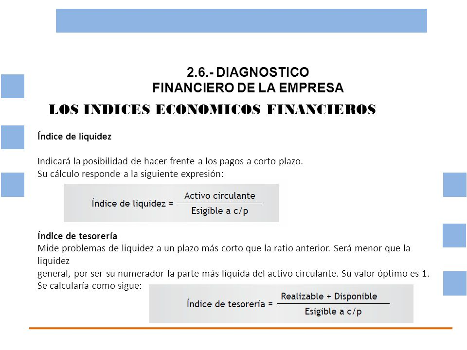 2.6.- DIAGNOSTICO FINANCIERO DE LA EMPRESA