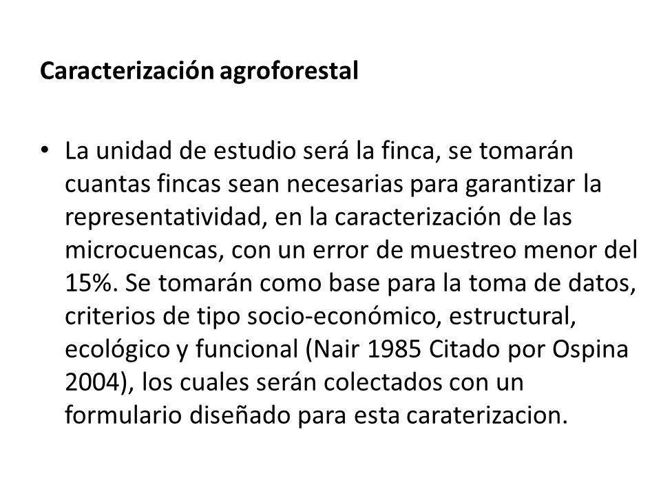 Caracterización agroforestal