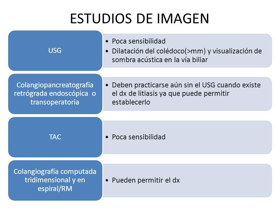 ESTUDIOS DE IMAGEN USG Poca sensibilidad