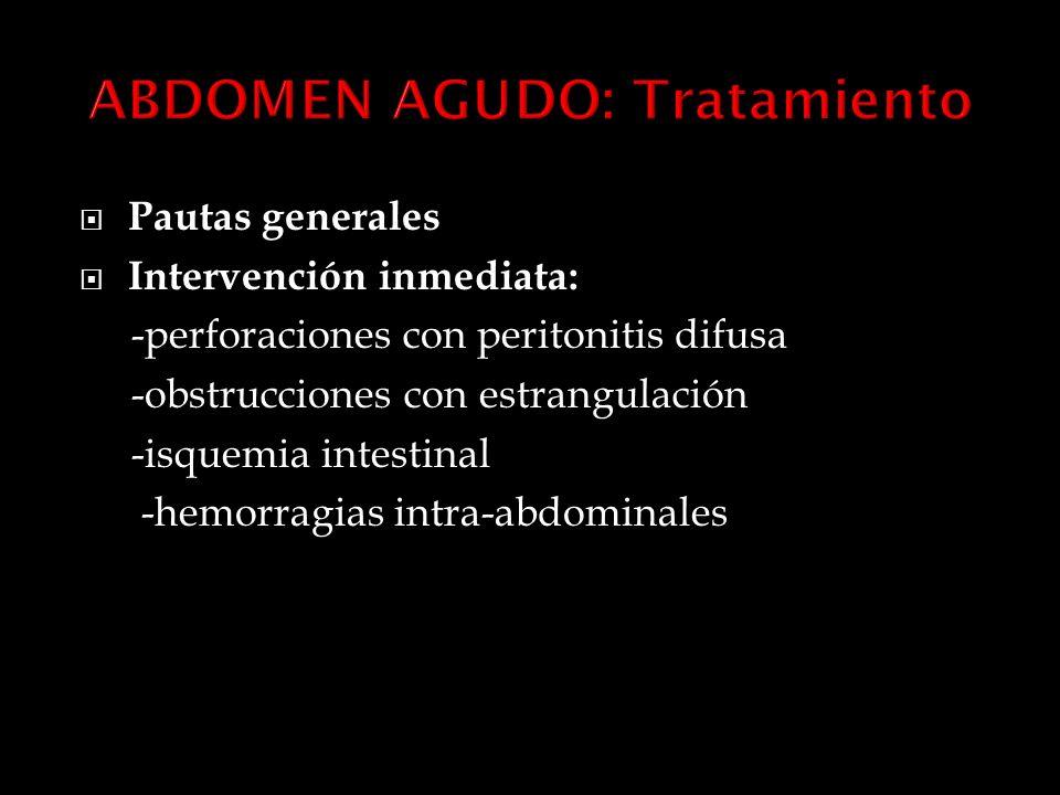ABDOMEN AGUDO: Tratamiento