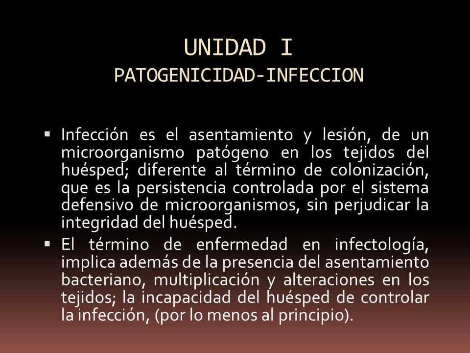 UNIDAD I PATOGENICIDAD-INFECCION