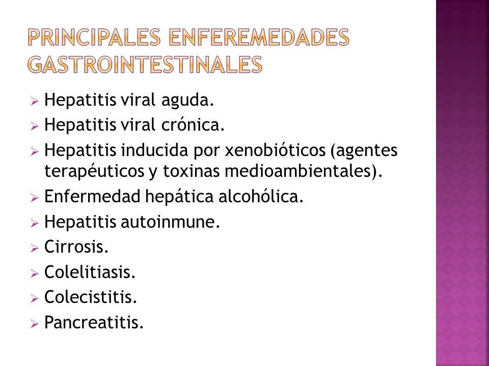 PRINCIPALES ENFEREMEDADES GASTROINTESTINALES