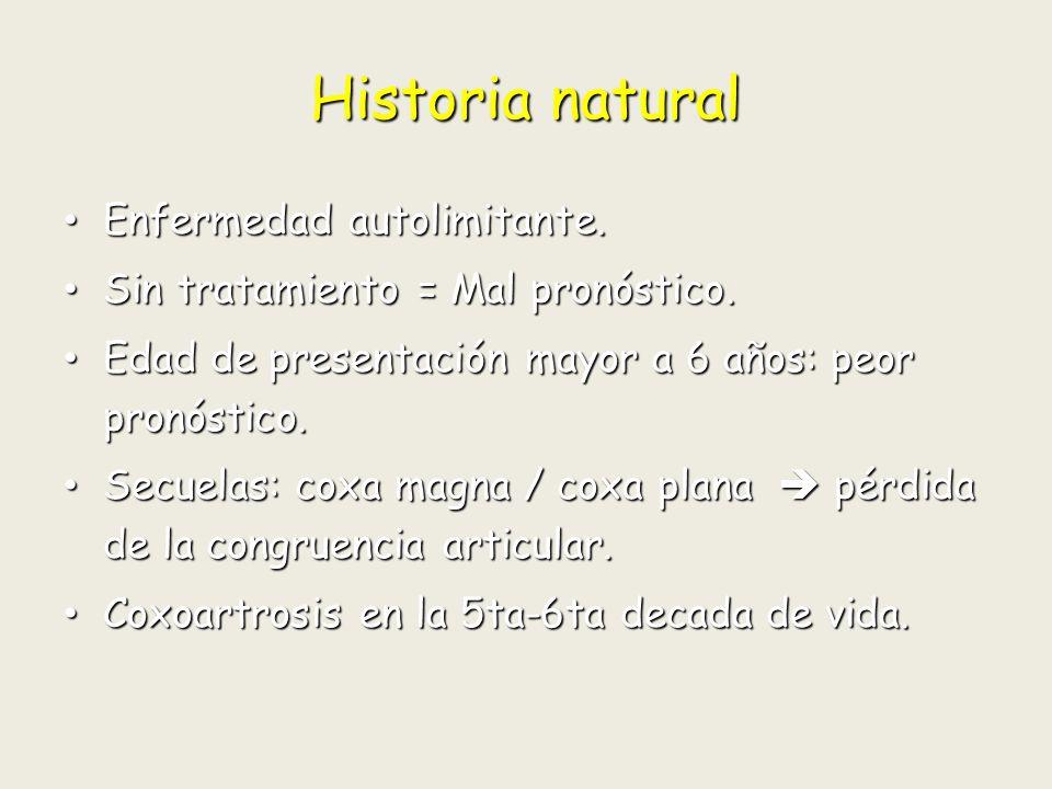 Historia natural Enfermedad autolimitante.